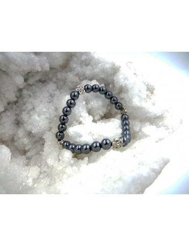 Bracelet en hématite 17 cm...